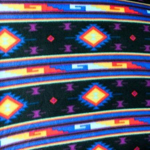 Midnight Moon Indian Print Anti Pill Fleece Fabric