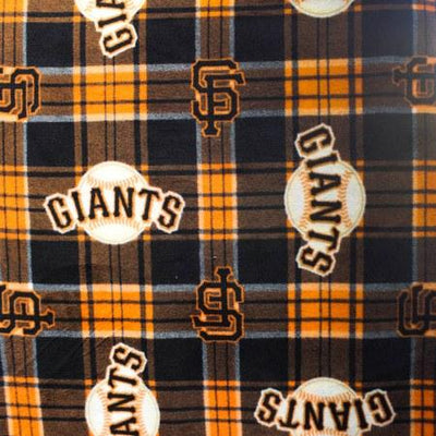 San Francisco Giants Plaid MLB Fleece Fabric