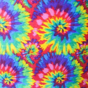Tie Dye Anti Pill Fleece Fabric
