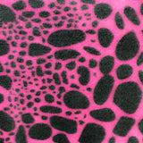 Pink & Black Spots Giraffe Fleece Fabric