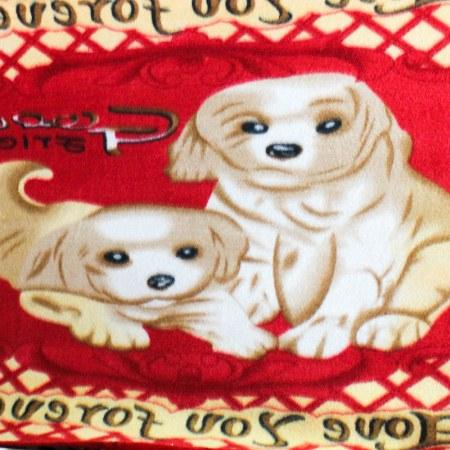 Playful Dogs Anti Pill Animal Theme Fleece Fabric