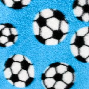 Soccer Turquoise 3 Size Anti Pill Print Fleece Fabric