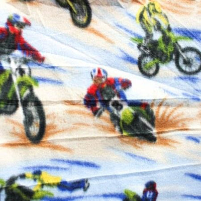 Motor Race Anti Pill Premium Fleece Fabric