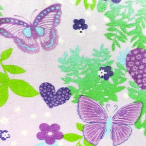 Purple Butterflies Anti Pill Fleece Fabric