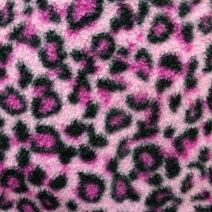 Pink Leopard Fleece Fabric