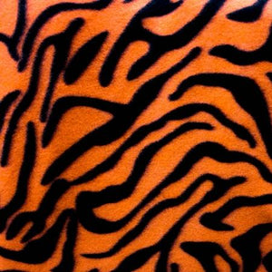Orange Black Zebra Fleece Fabric