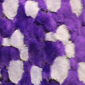 Purple Gray Bricks Faux Fur Long Pile Fabric