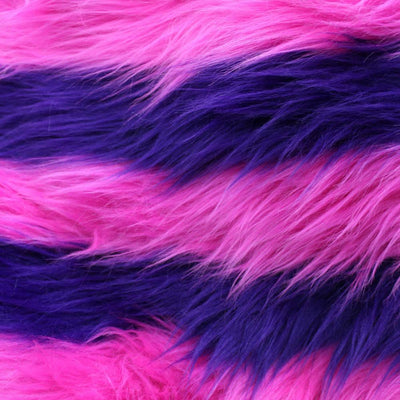 Hot Pink Purple  Faux Fur Three Tone Fabric