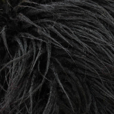 Black Faux Fake Mongolian Animal Fur Fabric Long Pile