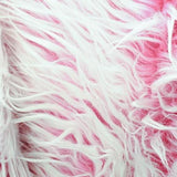 Pink Java Frosted Mongolian Faux Fur Fabric