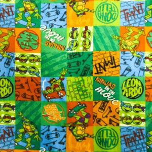 TMNT Ninjas On The Move Anti Pill Premium Fleece Fabric