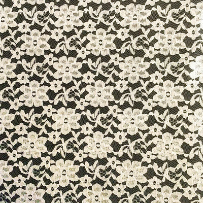 Ivory Raschel Lace Fabric