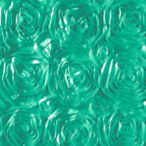 Rosette Satin Jade Fabric