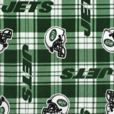 New York Jets Plaid NFL Fleece Fabric