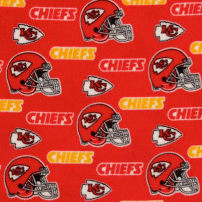 Kansas City Chiefs Solid NFL Fleece Fabric