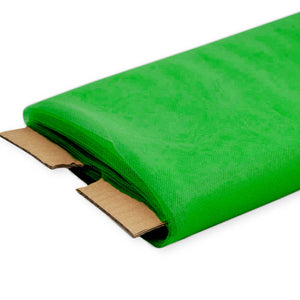 Kelly Green Nylon Tulle Fabric - 40 Yards By Roll
