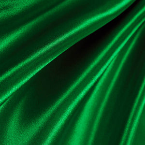 Emerald Green Poly Satin Fabric