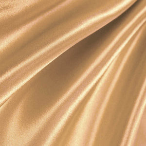 Bridal Satin Khaki Fabric