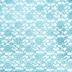 Blue Raschel Lace Fabric