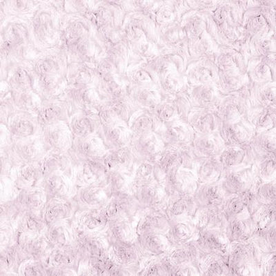 Light Pink Minky Rosebud Fabric
