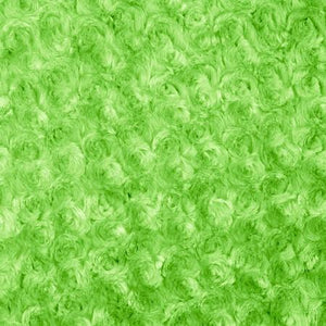 Lime Minky Rosebud Fabric