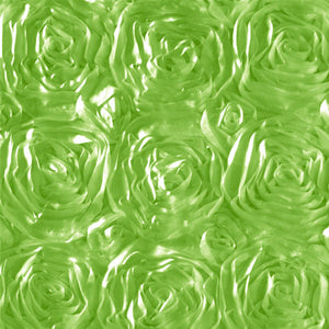 Rosette Satin Lime Fabric