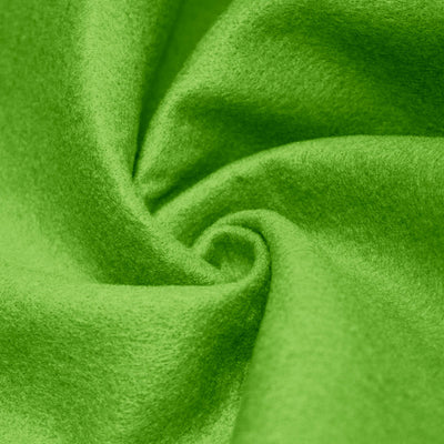 Lime solid Acrylic Felt Fabric