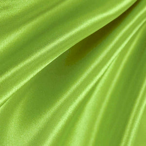 Bridal Satin Lime Fabric