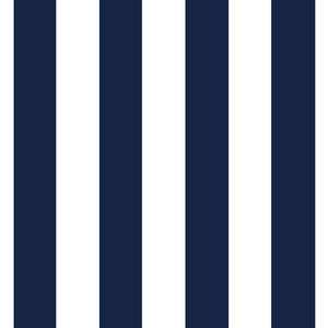 "Navy White Stripe 1"" inch Satin Fabric"