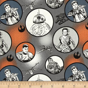 Star Wars The Force Awakens Badges Iron 100% Cotton Fabric