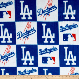 MLB Los Angeles Dodgers Fleece Fabric