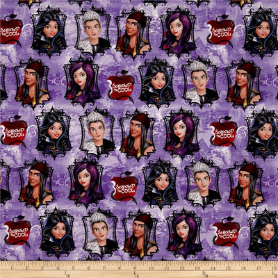 Disney Descendants Scholled In Cool Multi 100% Cotton Fabric
