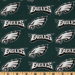 NFL Broadcloth Philadelphia Eagles Green 100% Cotton Print Fabric