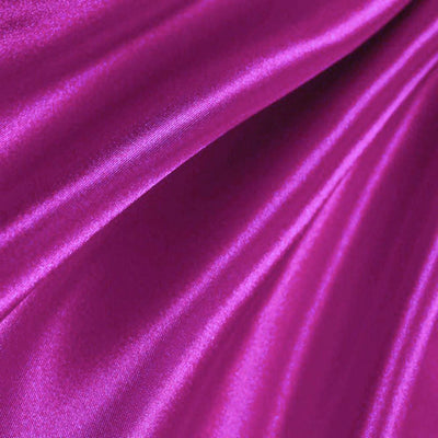Magenta Poly Satin Fabric / 50 Yards Roll