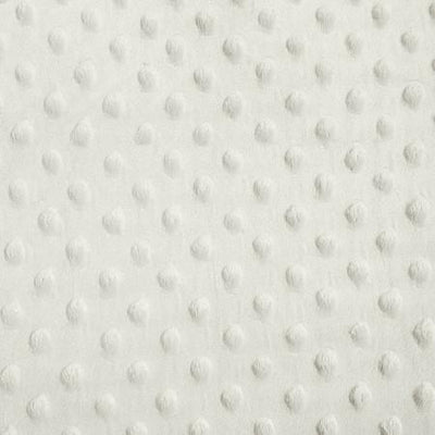 Ivory Minky Dimple Dot Fabric