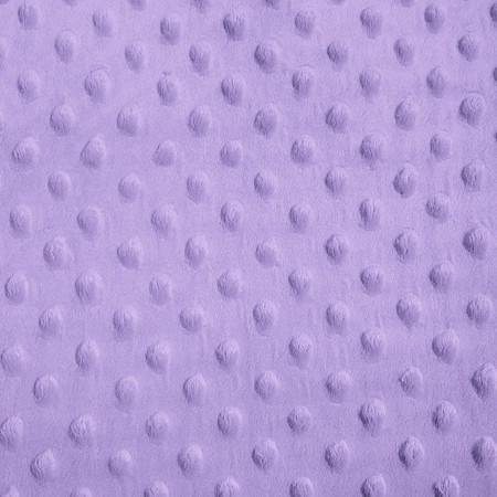 Lilac Minky Dimple Dot Fabric