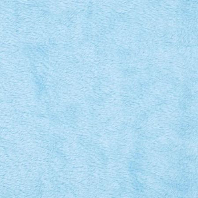 Light Blue Solid Minky Fabric