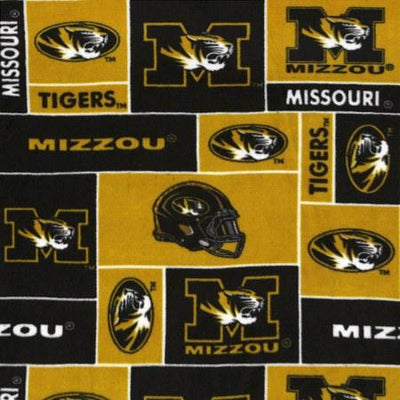 Missouri Tigers Allover NCAA Fleece Fabric