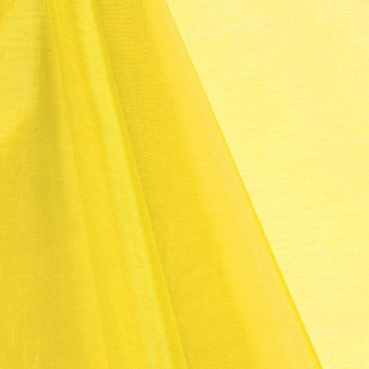 Yellow Mirror Organza Fabric