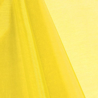 Yellow Mirror Crystal Organza Fabric / 100 Yards Roll