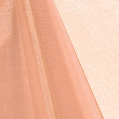 Peach Mirror Crystal Organza Fabric / 100 Yards Roll