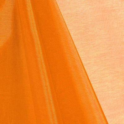 Orange Mirror Crystal Organza Fabric / 100 Yards Roll