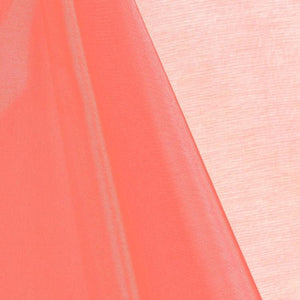 Coral Mirror Organza Fabric