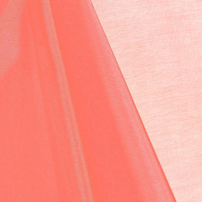 Coral Mirror Crystal Organza Fabric / 100 Yards Roll