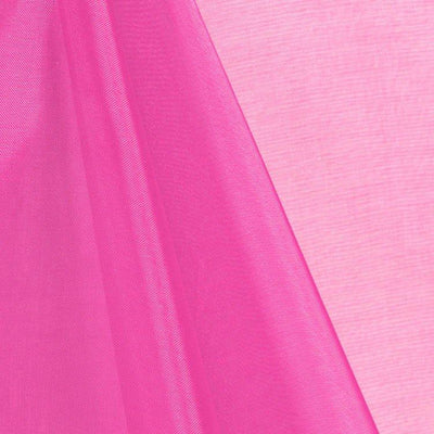 Hot Pink Mirror Crystal Organza Fabric / 100 Yards Roll