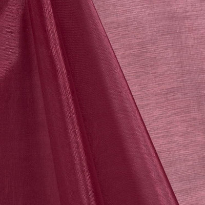 Burgundy Mirror Crystal Organza Fabric / 100 Yards Roll