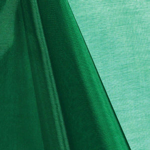 Hunter Green Mirror Organza Fabric