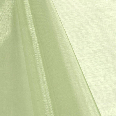 Sage Mirror Crystal Organza Fabric / 100 Yards Roll