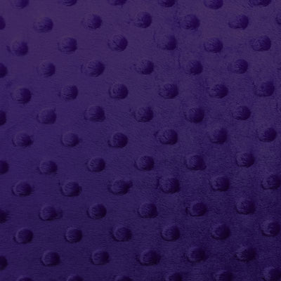 Dark Purple Minky Dimple Dot Fabric