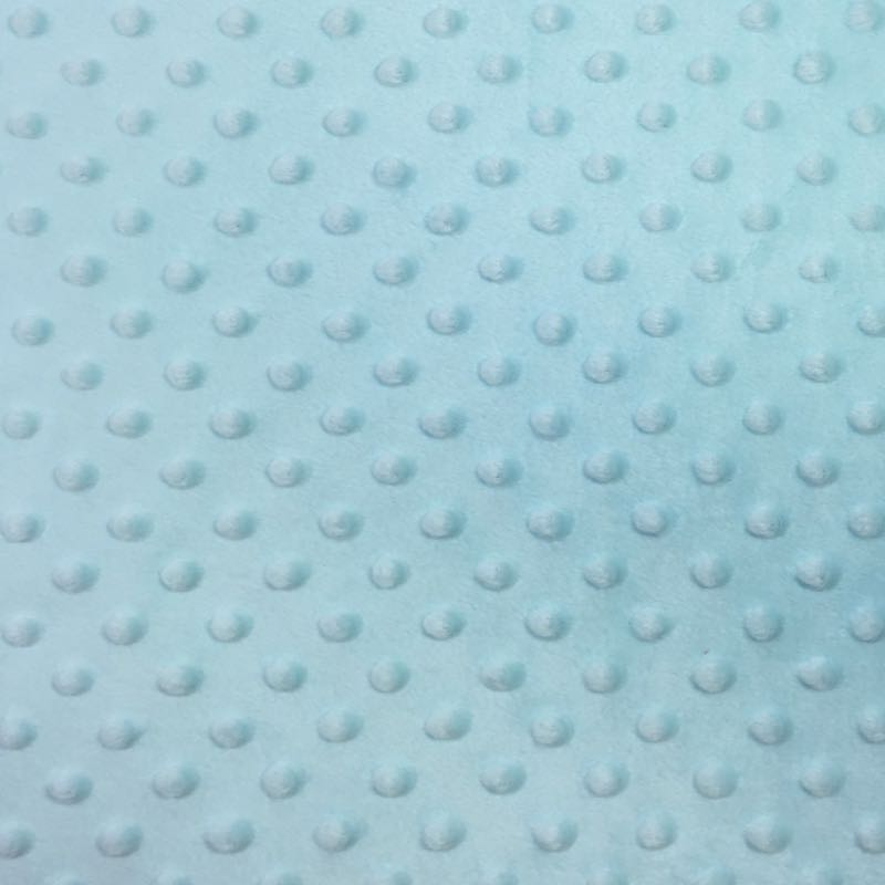 Icy Blue Minky Dimple Dot Fabric